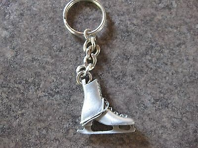 Woman's Ice Skate ( Pewter ) Key  Chain Key Ring