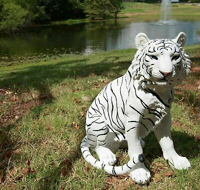 "20"" Height Large White Tiger Guardian Garden Patio Home Figurine Decor Gift"
