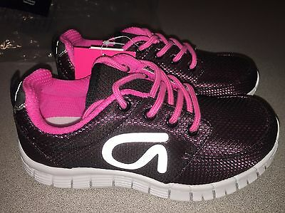Nwt Gap Kids Girls Gap Fit Black & Pink Tennis Shoes Sneakers Size 1