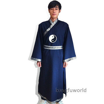 Wudang Taoist Long Robe Martial arts Tai chi Suit Wing Chun Kung fu Uniform