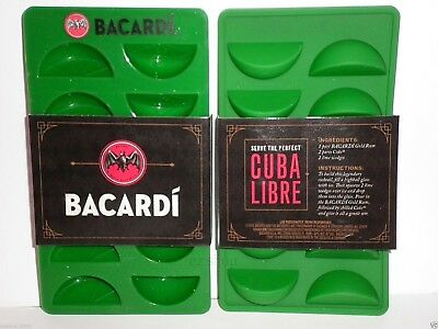 Bacardi Rum Drink Cocktails Lime Wedge Ice Cube Silicone Rubber Tray 2Pack
