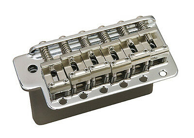 Gotoh Vintage Stratocaster Strat Tremolo Guitar Bridge • Steel Block • Chrome