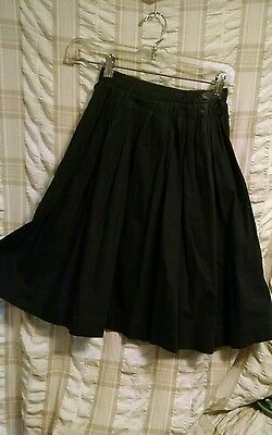 Vintage 1950's Girltown Black Skirt Size 6