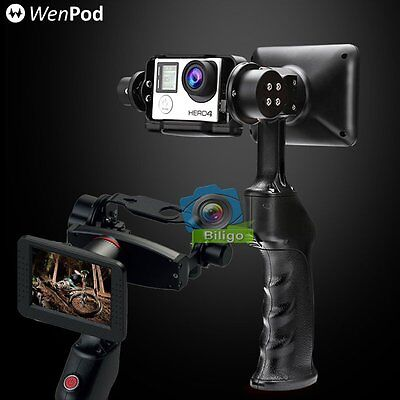 "Wenpod GP1 3.5"" LCD Handheld Gimbal Steady Stabilizer For GoPro 4 3+ Camera【US】"
