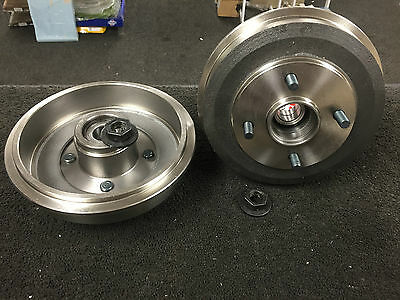 FORD FOCUS MK1 1998-2004 2 REAR BRAKE DRUM with WHEEL BEARING FITTED PAIR