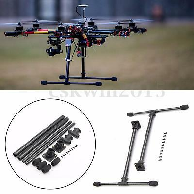 T Type Higher Tall Landing Gear 3K Carbon Fiber Quick Install For FPV Drone