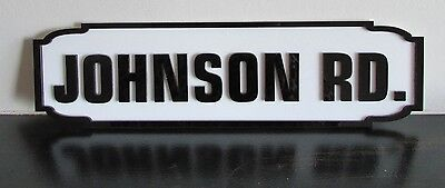 Personalised Surname Road Sign Plaque / Gift / Present Street, Road, Crescent Av