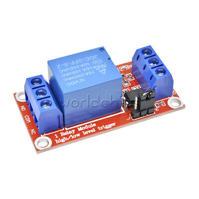 12V 1 Channel Relay With Optocoupler Isolation High and Low Level Trigger Module