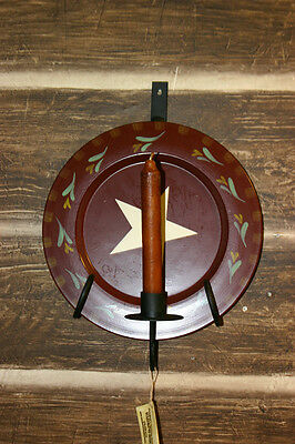 Wrought Iron Wall Sconce with Plate Holder