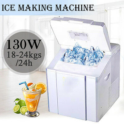 3.2L 24kg/h Counter Top Ice Maker Output 41 x 35.5 x 43cm Silver Icecube Machine