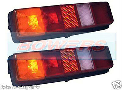 Pair Of Rubbolite 262/01/00 Ford Transit Tipper Pickup Rear Tail Lamps Lights