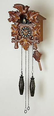 Wooden Cuckoo Wall Clock Hanging Pendulum Bird Chiming Carved Quartz Antique