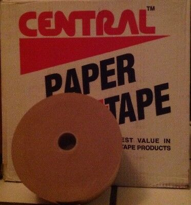 """1 Roll 3"""" x 600' Central Water Activated Sealing Paper Packaging Tape USA - NEW"""