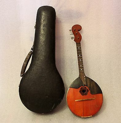 Vintage Soviet, folk instrument domra, mandolin made by master - 3 strings.