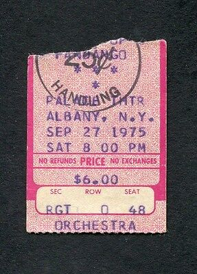 1975 ZZ Top Concert Ticket Stub Albany New York Fandango Tour