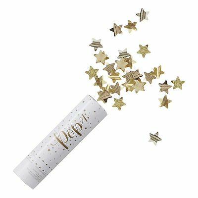 Gold Confetti Cannon, Christmas / Wedding / Party Accessorie