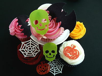20 *pre-Cut* Halloween Mixed Edible Cake Cupcake Fairy Rice Wafer Paper Toppers