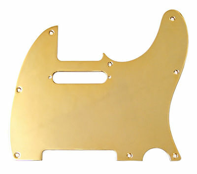 Fender 1-Ply Gold-Plated 8-Hole Mount Telecaster Pickguard