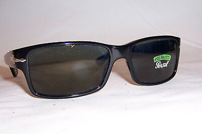 NEW Persol Sunglasses PO 2803S 95/58 BLACK/GREEN POLARIZED 58mm AUTHENTIC 2803