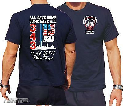 9/11 WTC 15 YEARS - NEVER FORGET  T-Shirt, navy