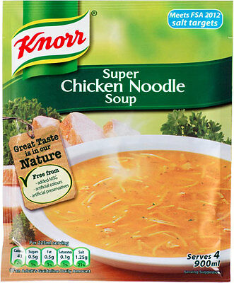Knorr Super Chicken Noodle Soup 3 X 51G **will Send Worldwide**