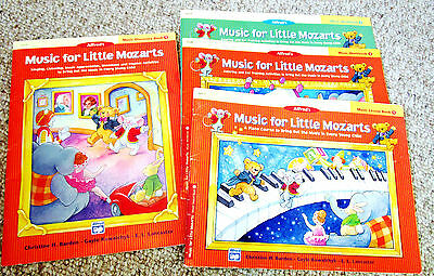 Alfred's Music for Little Mozarts Work Lesson Discovery Book 1 2 Set Kids Piano
