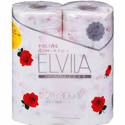Fragrance Toilet Paper Scent of roses 4 roll Made in JAPAN
