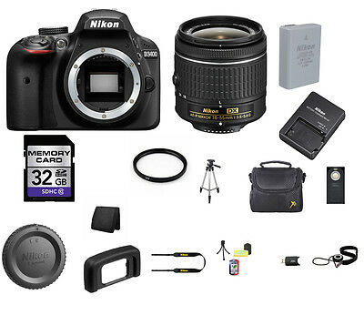 Nikon D3400 DSLR Camera - Black with 18-55mm Lens 32GB Best Value Kit