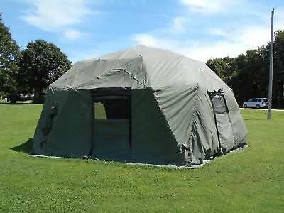 US ARMY MILITARY Tent Tan Base-X 307 Shelter System HUGE 18x35 FAST ...