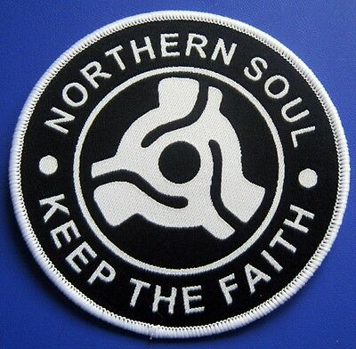 Northern Soul Patch - Keep The Faith Record Centre Insert - Black - 85Mm Dia