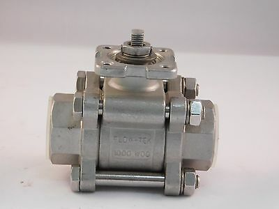 "FlowTek 3/4"" Stainless Steel Ball Valve NO HANDLE"
