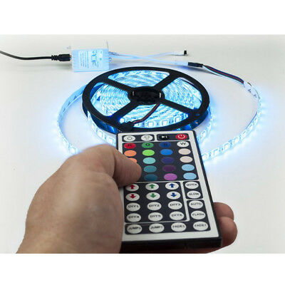 1M 2M 3M 4M 5M 5050 RGB White LED Strip 44 Keys & Music Remote Home Xmas