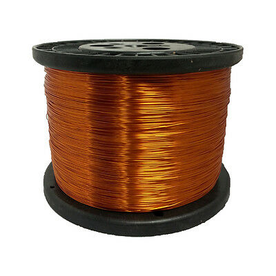 """30 AWG Gauge Enameled Copper Magnet Wire 5.0 lbs 15681' Length 0.0114"""" 200C Nat"""