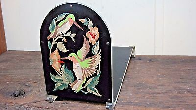 Petite Vintage Hand Painted Tabletop Bookcase Home & Garden Hummingbird Stand