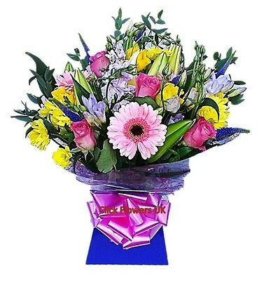 Fresh Flowers Delivered Vibrant Florist Choice Selection Mixed Bouquet