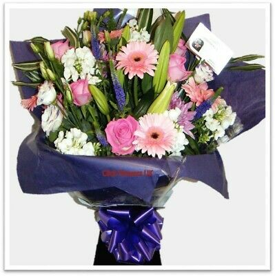 FRESH REAL FLOWERS  Delivered UK Stunning Selection Bouquet Free Flower Delivery