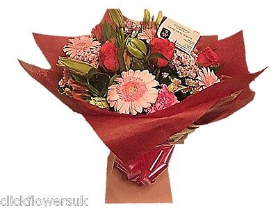 Fresh Flowers Delivered Sensational Perfectly Pink Florist Choice Mixed Bouquet