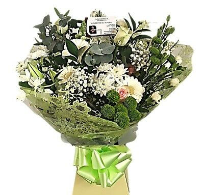 FRESH REAL FLOWERS  Delivered UK Double Cream Bouquet Free Flower Delivery