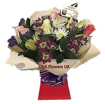 FRESH REAL FLOWERS  Delivered UK Whispers Selection Bouquet Free Flower Delivery