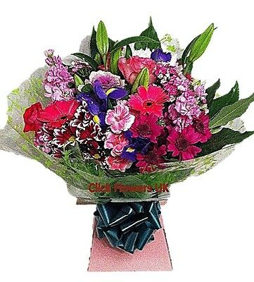 FRESH REAL FLOWERS Delivered UK Click Selection Bouquet Free Flower Delivery