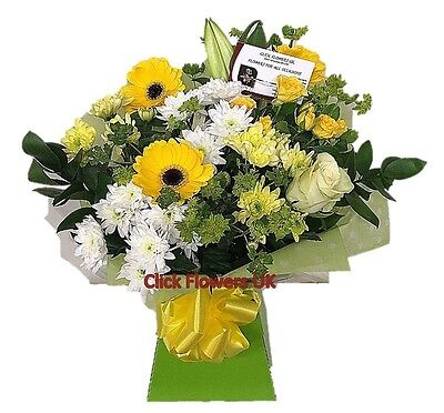 FRESH REAL FLOWERS Delivered UK Fresh Breeze Bouquet Free Flower Delivery
