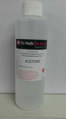 2 x 100% Pure Acetone 1 LITRE nail polish remover gel remover acrylic nails