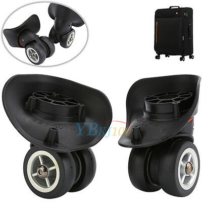 1Pair Replacement Luggage 360° Swivel Spinner Suitcase Caster Wheels Repair