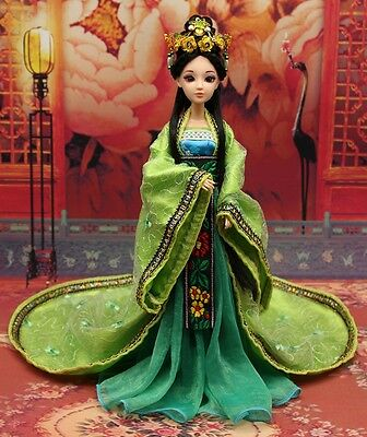 NEW RARE OOAK Chinese Collectible Toy Dolls Princess New Moon Green Free US ship