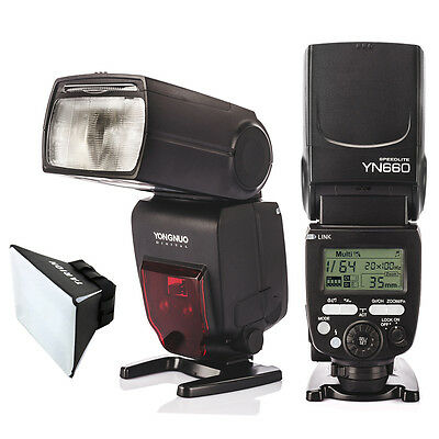 Yongnuo YN660 GN66 2.4GHz Wireless Flash Speedlight for Nikon Canon + Diffuser