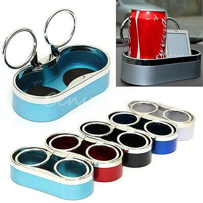 Vehicle Auto Car Truck Two Dual Hole Drink Bottle Can Cup Holder Stand Plastic