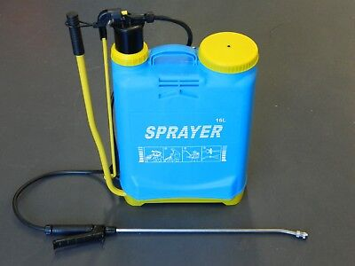 Backpack Pump Weed Garden Sprayer 16Ltr Chemical Spray Unit Knapsack Chemical