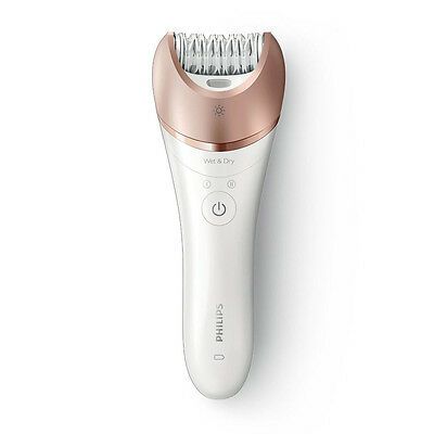 Philips Satinelle Prestige BRE650 Epilatore Wet & Dry Ricaricabile con Accessori