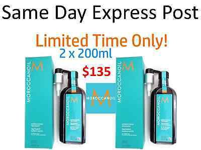 Moroccanoil MOROCCAN OIL Hair Treatment 2 x 200ml   * GREAT CHRISTMAS GIFT *