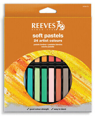 Reeves Soft Pastels Artists Crayons - 24 Pack